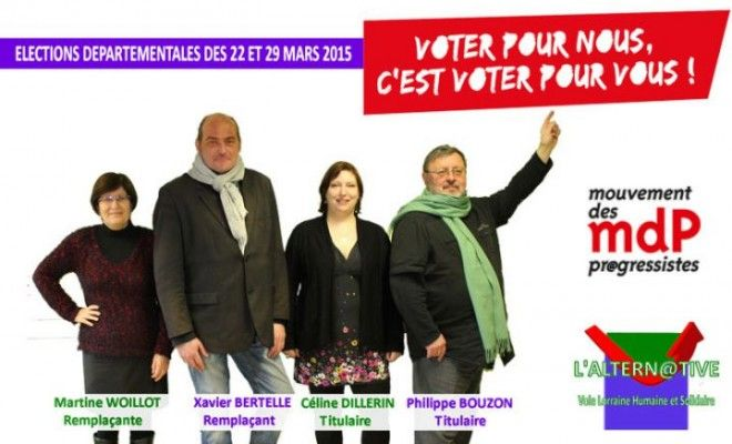Les affiches des élections départementales 2015 faites à la maison