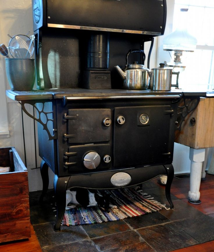 Beautiful Lizzie Under The Kitchen Cook Stove  Love Lover Her Wood Cookstove!