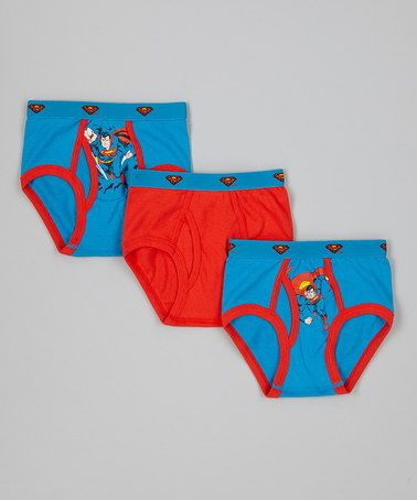 Take a look at this Red & Blue Superman Underwear Set - Toddler & Boys by Superman on #zulily today!