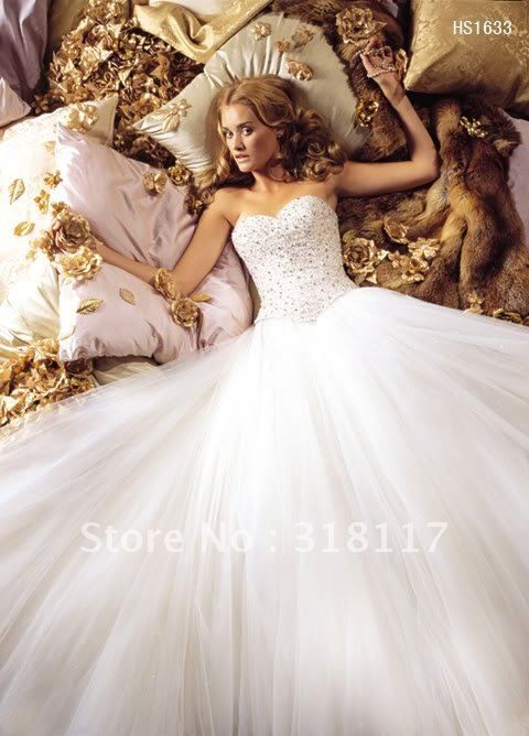 2012 White Bridal Ball Gowns Wedding Dress Queen Party Quinceanera Princess-in Wedding Dresses from Apparel & Accessories on Aliexpress.com