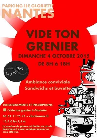 affiche Vide-grenier association Les AM