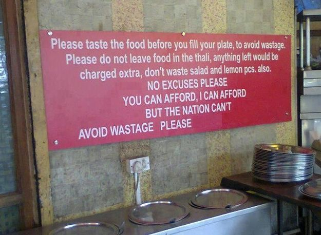 This conscientious restaurant. | 18 Photos The World Needs To See To Understand How Beautiful India Really...