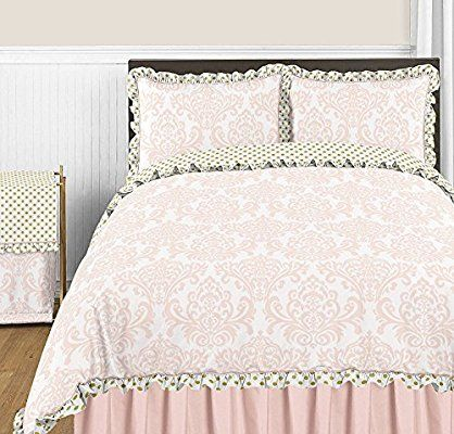Amazon Com Sweet Jojo Designs 3 Piece Blush Pink White