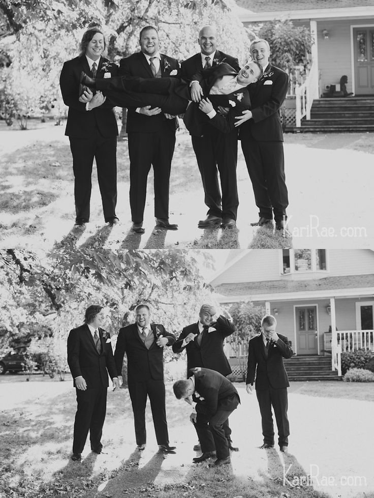 Funny groomsmen poses, creative groomsman photos - Kari Rae Photography, Portland Oregon Wedding Photographer