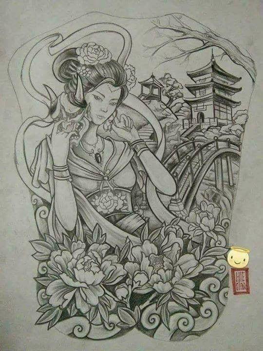 25 trendige japanische geisha tattoo ideen auf pinterest. Black Bedroom Furniture Sets. Home Design Ideas