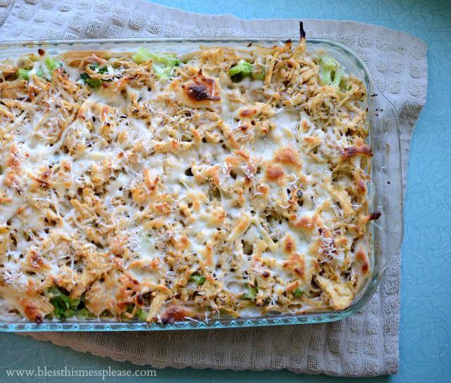 Healthy Chicken and Broccoli Tetrizzini