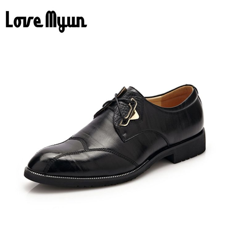 2017 brand new mens Business Dress shoes Wedding shoes fashion Pointed toe men lace up genuine leather soft leather shoes WA-11 #WeddingDressesLace
