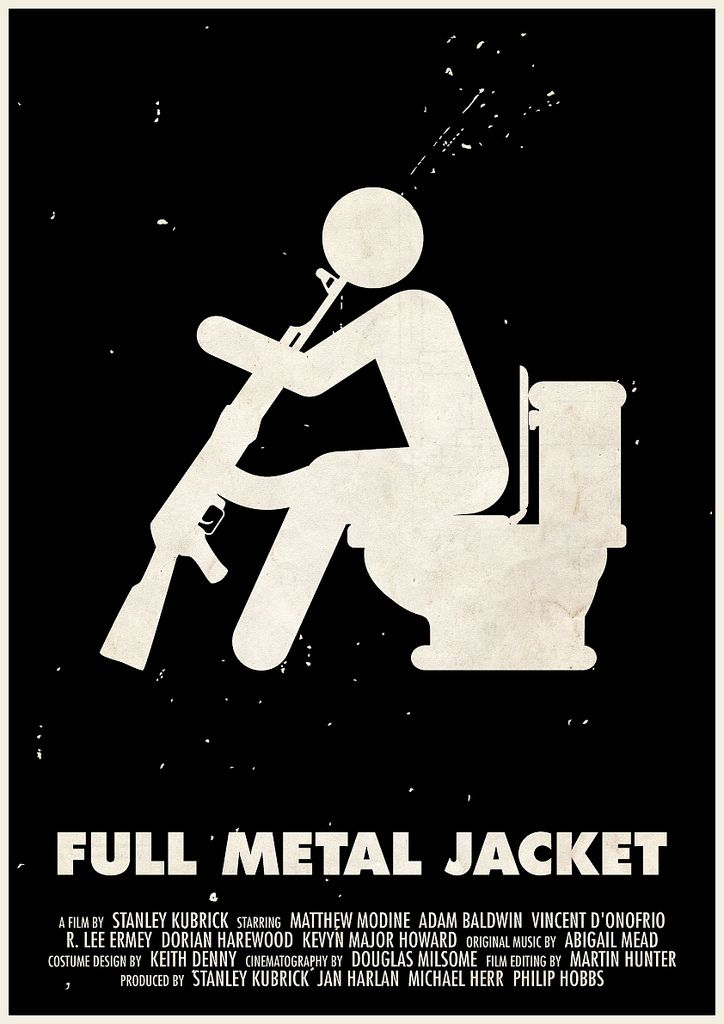https://flic.kr/p/9tX1T6 | 'Full Metal Jacket' pictogram movie poster | One of 11 Kubrick pictogram movie posters, featured at the French Cinémathèque's online exhibition 'Kubrick et le Web': www.cinematheque.fr/expositions-virtuelles/kubrick_web/in... twitter.com/Hertzen83