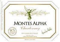 Montes Alpha Chardonnay, Casablanca Valley, Chile label