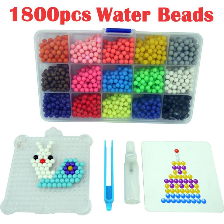 Multicolor Water Hama Beads toys Sticky Perler Beads Pegboard set Fuse Beads jigsaw puzzle Water Beadbond Educational DIY toys #Affiliate