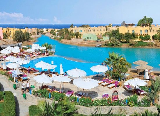 Egypte Hurghada.  Hotel Arena Inn 3*   Rustig, aan lagune in El Gouna. Prachtig zwembad, Zeytuna strand op1 km, gratis shuttle boot service. Centrum van El Gouna , golfbaan, watersport.