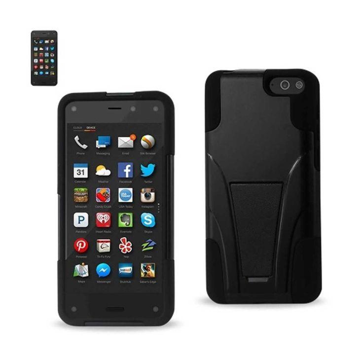 REIKO AMAZON FIRE PHONE HYBRID WITH KICKSTAND BLACK | MaxStrata