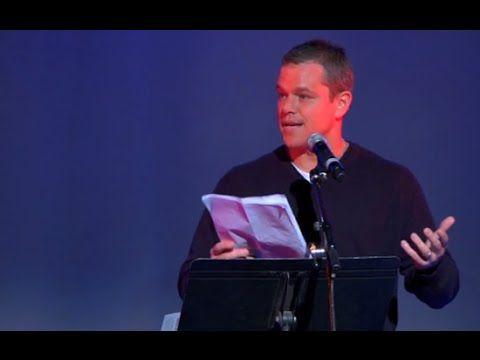 "Matt Damon on ""The Elite"" & ""New World Order,"" - Amazing Speech On ""This Evil World!"""