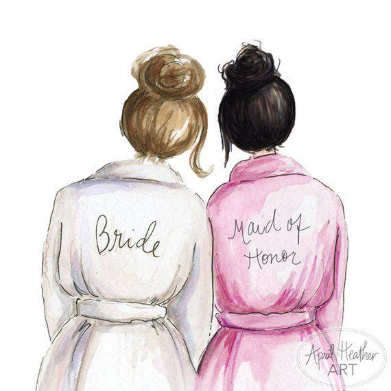 Maid Of Honor Pdf Download Brunette Bride Black Bun Will You