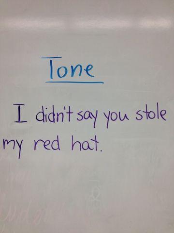 Lehren Sie den Ton mit einem Satz