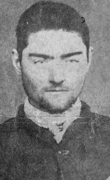 Portrait of Ned Kelly taken by the Police Photographer at Pentridge after Ned's transfer from the Beechworth Gaol in 1873 State Library of Victoria .
