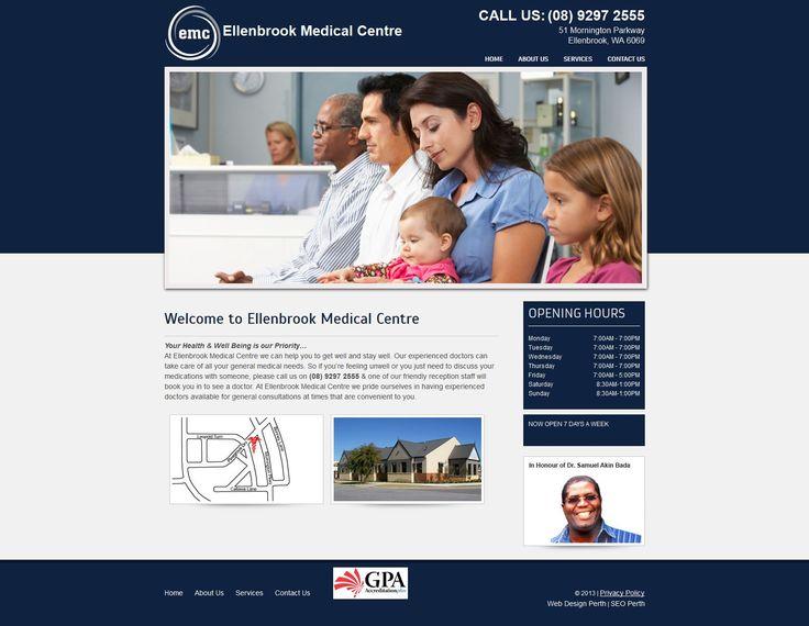 Ellenbrook Medical Centre Web Design by Star 3 Media