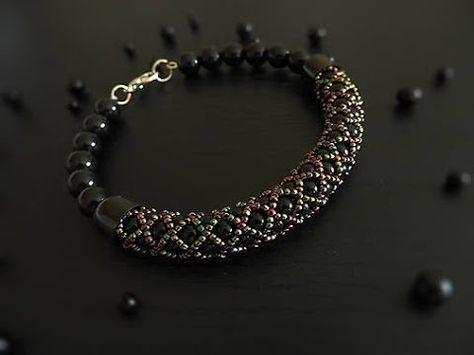 Tutorial Video -- How to Make a Tubular Netting Stitch Bead Bracelet. МК. Жгут из бисера и бусин - YouTube