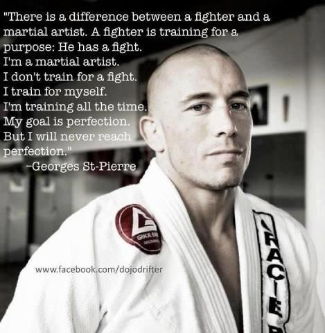 """Awesome saying. So true, people always tell me nobody will mess with my daughter because she can fight. She doesn't """"fight,"""" she TRAINS!"""