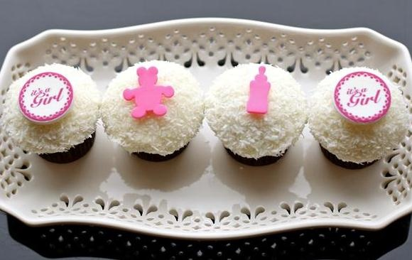 It's a girl! Personalised #Ghermez cupcakes. Perfect for a baby shower!