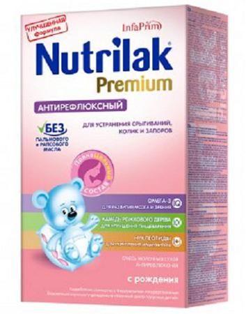 Nutrilak Антирефлюксный 0-12 мес 350 г  — 505р. ---------------- Нутрилак Антирефлюксный 0-12 мес 350 г - сухая специализированная молочная смесь для детей с рождения, страдающих срыгиваниями,  кишечными коликами и запорами. Смесь содержит в правильном соотношении все необходимые для ребенка пищевые вещества, количеств...