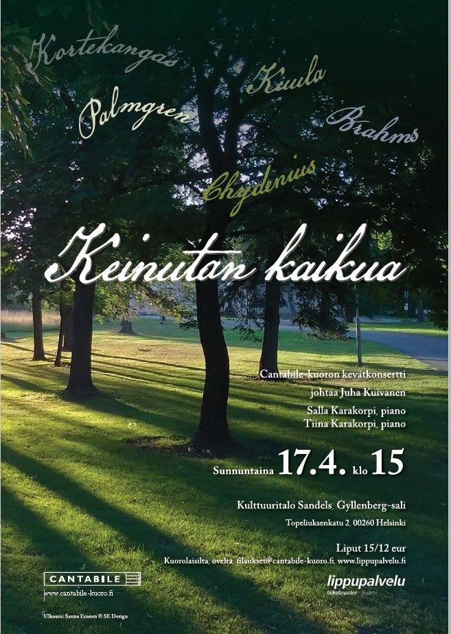 Concert poster for Cantabile choir, spring 2016