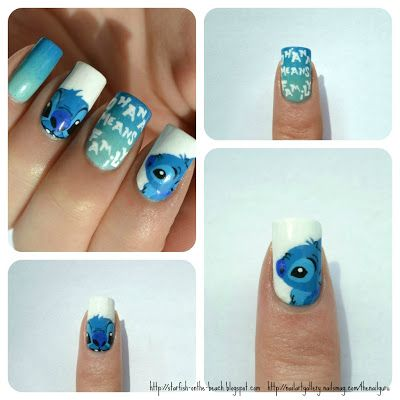 Starfish on the Beach: 2012: A Year in Review, of Nail Art - lilo and stitch nails