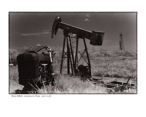"""""""Mexia Oil Field, Limestone County, TX"""" by Tommy Lavergne, digital photographic print, 16""""x20"""" www.thornwoodgallery.com"""