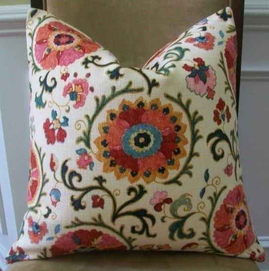 NEW DECORATIVE DESIGNER PILLOW COVER  20x20  SUZANI by elegantouch