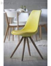 Krzesło WOODY żółte, drewno dębu olejowane, 22130-7 (Interstil)
