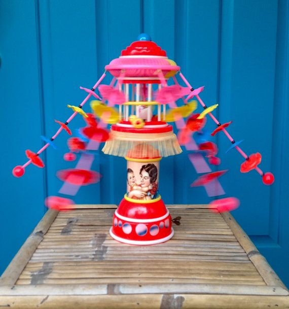 FREE SHIPPING-Vintage Antique Rare Celluloid Japan Hibiki Wind Up Bird Cage Carnival Style Toy-Colorful-Asian Toy-Nursery Toy-Chinoiserie