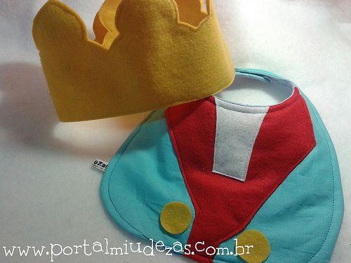 kit Pequeno Príncipe- babador e coroa