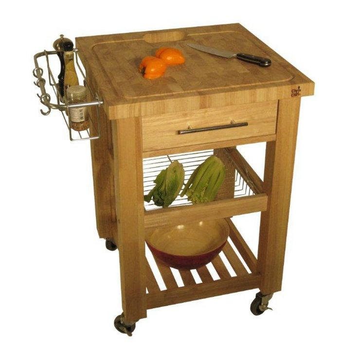 """Chris and Chris Grooved, Drop-Slot Rubberwood Work Station - 24"""" x 24"""", Natural at http://butcherblockco.com"""