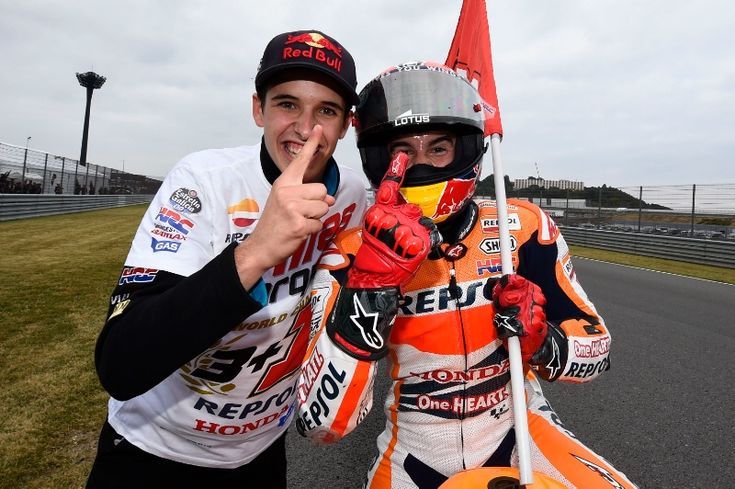 Marquez, 2014 World Champion, with Brother Alex, Japanese MotoGP Race 2014