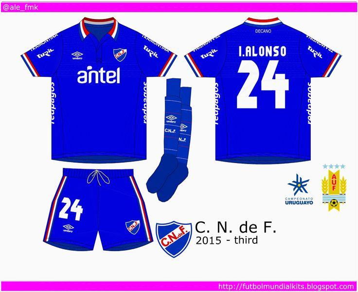 CD Nacional of Uruguay 3rd kit for 2015.