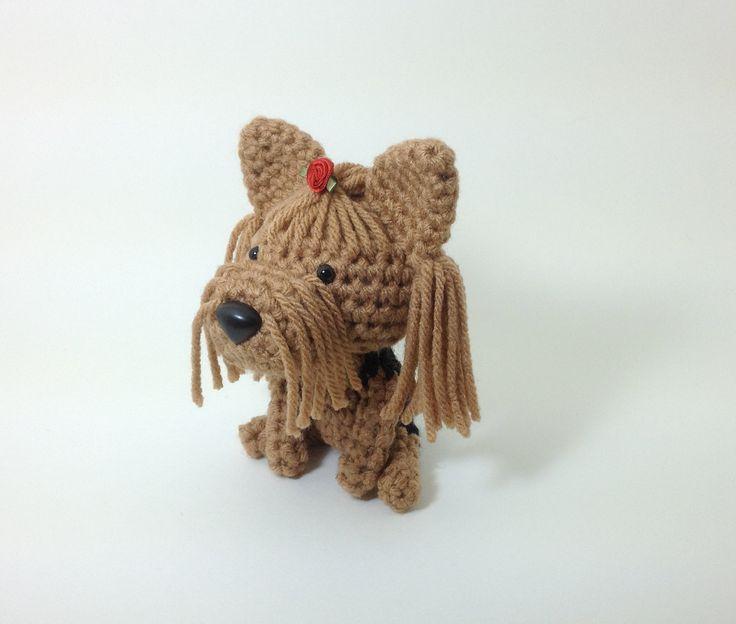 Yorkshire Terrier Amigurumi Dog Yorkie Handmade Stuffed ...