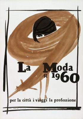 La Moda 1960 by Lora Lamm, Museum für Gestaltung Zürich, Plakatsammlung, © bei den Autoren