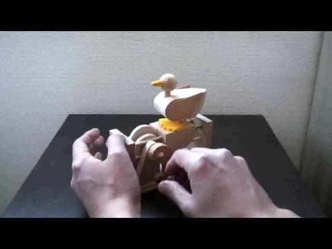 Automata からくり人形 Walky Duck - YouTube