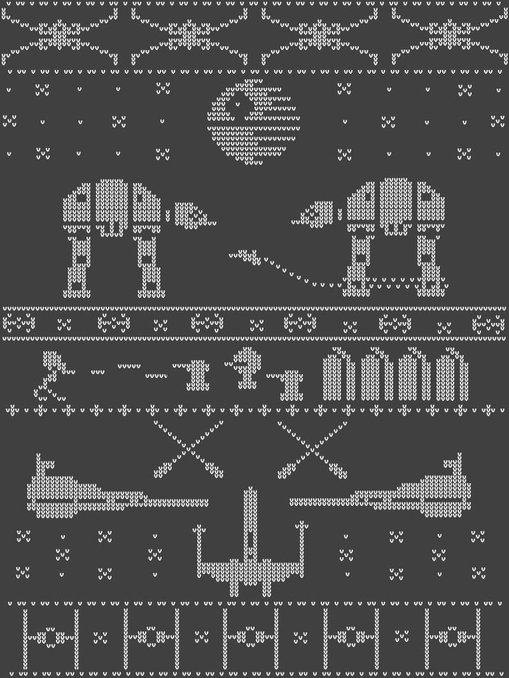 A Very Nordic Star Wars Christmas - doodlewhale Looks like it should be made into a Christmas sweater