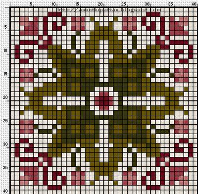 Biscornu chart - Tavaszi Biscornu (Spring Biscornu)
