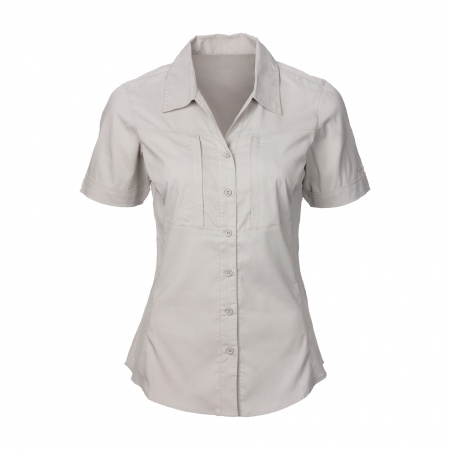 Vipan Hiking Short Sleeve Shirt Women - Silver Grey