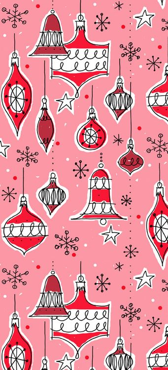 Vintage ornaments pattern  (pink colourway)  Alanna Cavanagh  #SURTEX