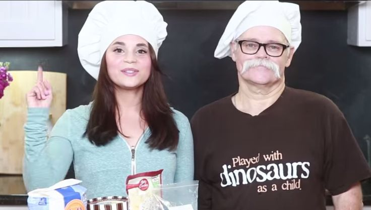 I am in love with this man's mustache! How can I convince my husband to grow one just like it?!  Rosanna Pansino's dad #nerdynummies