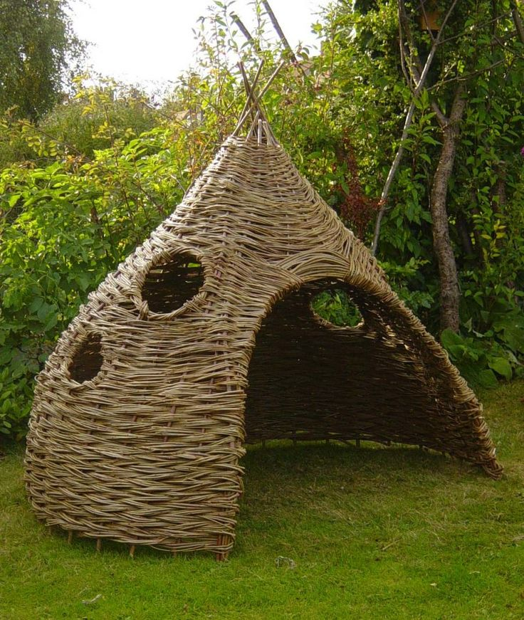 what a cool willow hut find this pin and more on child friendly garden design