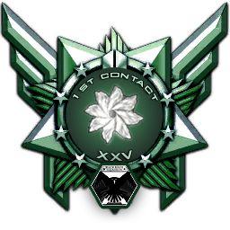1st Contact. Médaille unique, remise à Rapture XXV car il fur le premier à entrer en contact avec les Aliens, le 5 janvier 3303