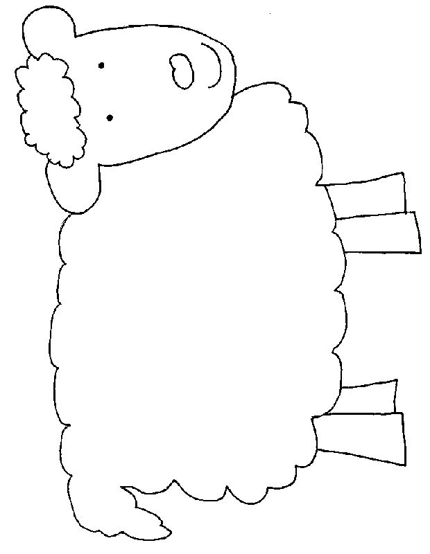 lamb face coloring page - Google Search