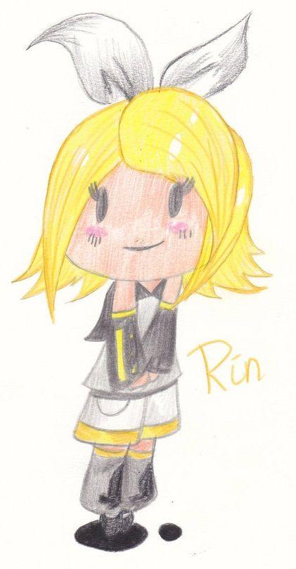 A #chibi of #Rin   #vocaloid
