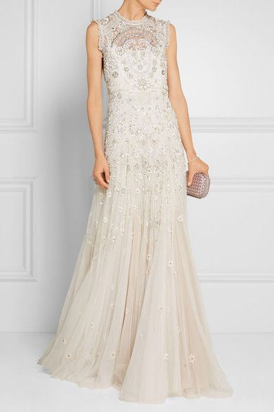 Stunning This stunning sequin studded gown with a dreamy train