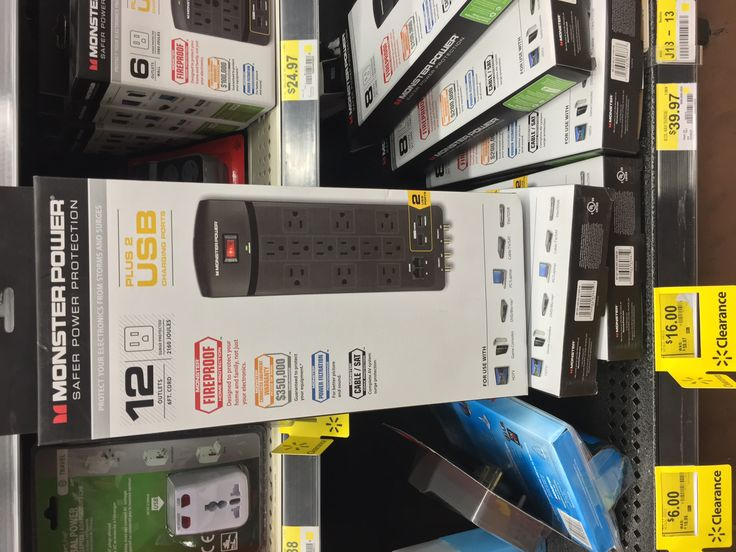 #Walmart: Monster power surge protector 12-outlet 2-USB 2160 Joules for $16 (Originally $60) @ Walmart B&M Clear... #LavaHot http://www.lavahotdeals.com/us/cheap/monster-power-surge-protector-12-outlet-2-usb/91481