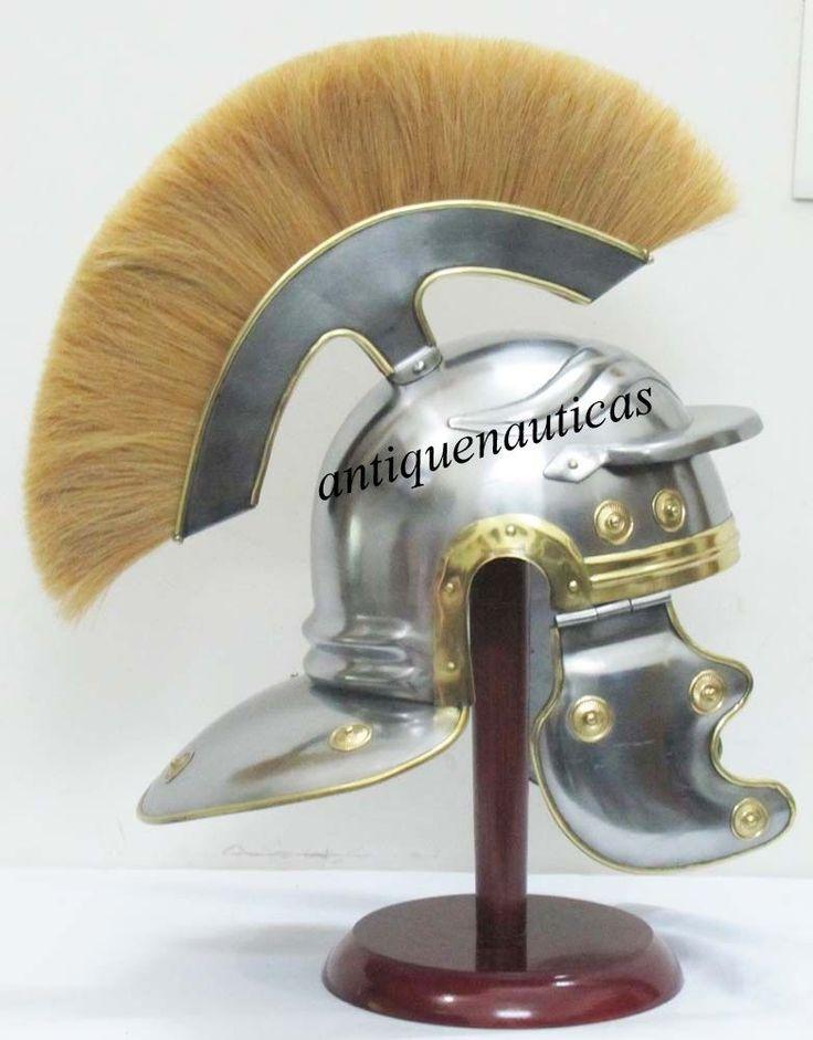 Roman Centurion Helmet with plume & Leather Liner / larp / role-play